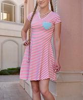 Orange & Aqua Heart Love Note Dress