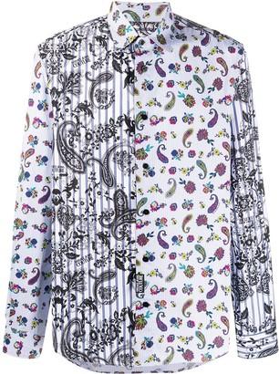 Versace Jeans Couture Paisley Contrast Shirt