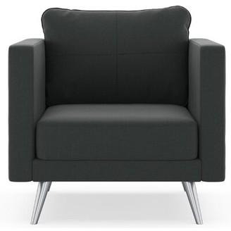 Corrigan Studio Criswell Armchair Fabric: Aubergine, Leg Color: Black