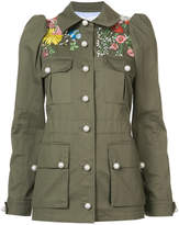 Veronica Beard embroidered military jacket