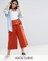 Asos Wide Leg Pant With Ruffle Waist