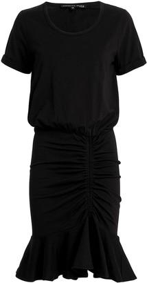 Veronica Beard Pima Cotton Ruched Dress