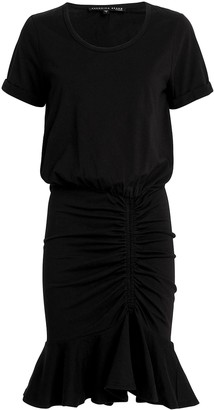 Veronica Beard Pima Black Ruched Dress