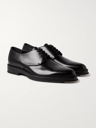 Dunhill Facet Polished-leather Derby Shoes - Black