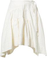 J.W.Anderson asymmetric skirt - women - Linen/Flax - 8