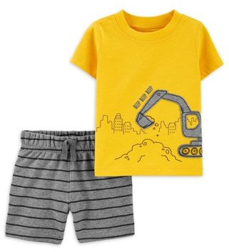 Child of Mine by Carter's Baby Boys Short Sleeve Shirt and Shorts Set, 2 pc set