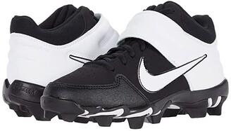 Nike Kids Alpha Huarache Varsity Mid Keystone Baseball (Toddler/Little Kid/Big Kid) (Black/White) Boys Shoes