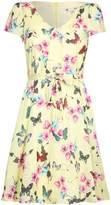 Yumi Butterfly Print Tea Dress