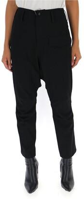 Yohji Yamamoto Dropped Crotch High Waist Trousers