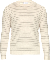 Brunello Cucinelli Striped cotton-knit sweater