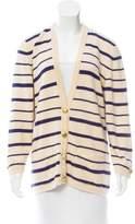 Chanel Striped Cashmere Cardigan