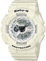 Baby-G Punching Pattern White Resin Strap Watch