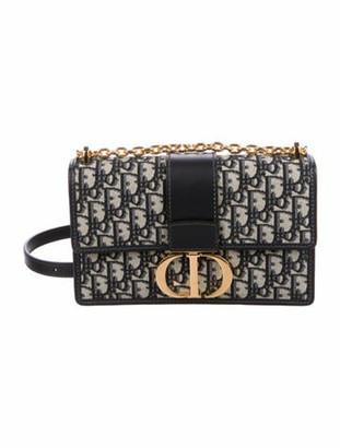 Christian Dior 2019 Oblique Montaigne 30 Box Bag Blue