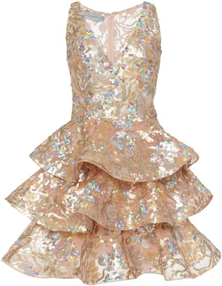 Silvia Tcherassi Citanova Sequin Embellished Ruffle Dress