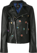 Paul Smith Kyoto Floral embroidery biker jacket