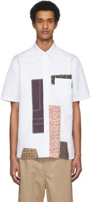 Junya Watanabe White Multi Patchwork Shirt