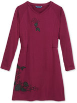 GUESS Embroidered Long-Sleeve Dress, Big Girls (7-16)