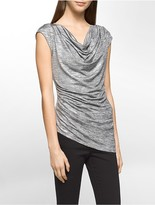 Calvin Klein Metallic Angled Sleeveless Top