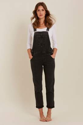 Fat Face Womens FatFace Overdye Black Lewes Dungarees - Black