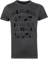 True Religion Tr Dark Grey Crew Neck T-shirt