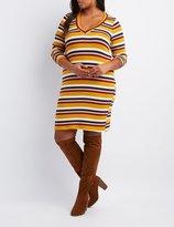 Charlotte Russe Plus Size Striped V-Neck Dress