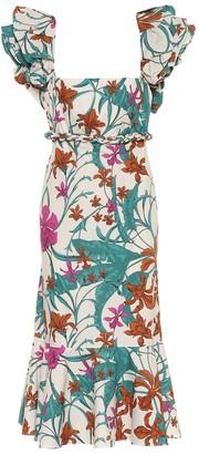 Johanna Ortiz Floral cotton dress