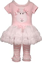 Bonnie Baby Baby Girls Easter Lamb Appliqued Playwear Set