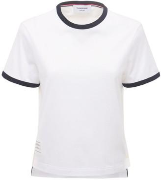Thom Browne Cotton Jersey T-Shirt W/ Label