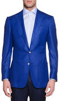 Stefano Ricci Solid Two-Button Wool Sport Coat, Blue