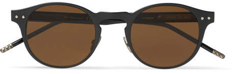 Bottega Veneta Round-Frame Coated-Aluminium And Acetate Sunglasses