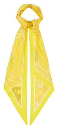 Etro Antibes Paisley Silk-twill Scarf - Yellow Multi