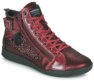 Pataugas PALME women's Shoes (High-top Trainers) in Red