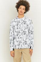 Nike White And Grey Snow Camo Crewneck Shirt