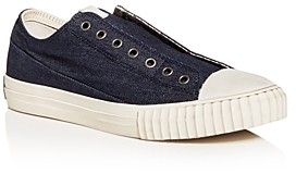 John Varvatos Bootleg Men's Vulcanized Denim Low-Top Sneakers