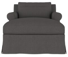 Canora Grey Autberry Linen Chaise Lounge Upholstery Color: Dark White