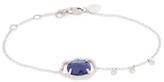 Meira T 14K White Gold, Blue Sapphire & 0.23 Total Ct. Diamond Station Bracelet
