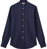 Jigsaw Italian Cotton Linen Grandad Collar Shirt