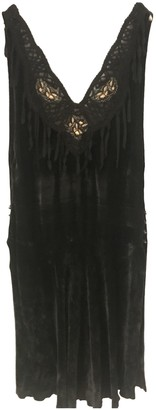 Romeo Gigli Black Velvet Dress for Women