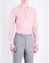 Richard James Deco Stripe Contemporary-fit Cotton Shirt