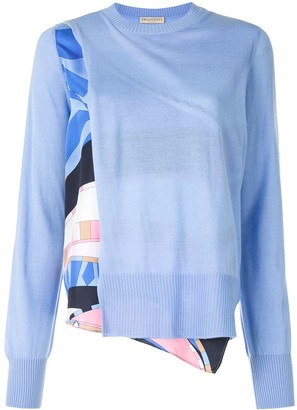 Emilio Pucci Wally print panelled jumper