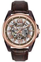Bulova Men's Automatic Leather Strap Watch