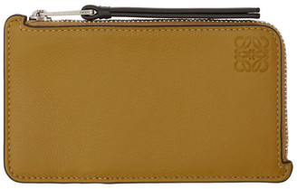 Loewe Yellow and Taupe Coin Card Holder