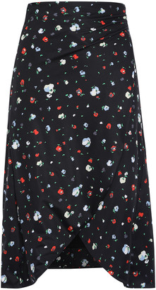 Ganni Pineberry Floral-print Stretch-jersey Pareo