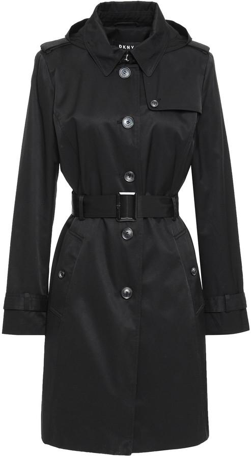 DKNY Cotton-blend Gabardine Trench Coat