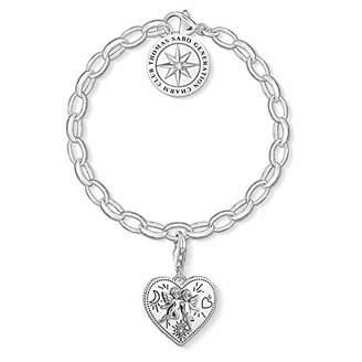 Thomas Sabo Women Charm Bracelet 925 Sterling Silver, Blackened SET0554-643-14