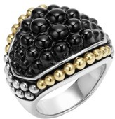 Lagos Women's 'Black Caviar' Dome Ring