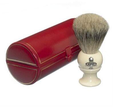 PURE Grey G B Kent And Sons Kent Bk2 Badger Shaving Brush (Cream)
