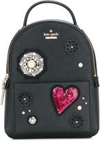 Kate Spade mini appliqué embellished backpack