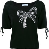 Blumarine sequin embellished shortsleeved sweater