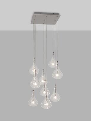 John Lewis & Partners Jensen 9 Pendant LED Cluster Ceiling Light, Chrome